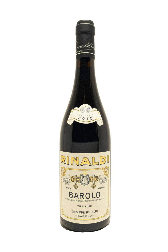 Bottle of Giuseppe Rinaldi, Barolo Tre Tine, 2015 - Flatiron Wines & Spirits - New York