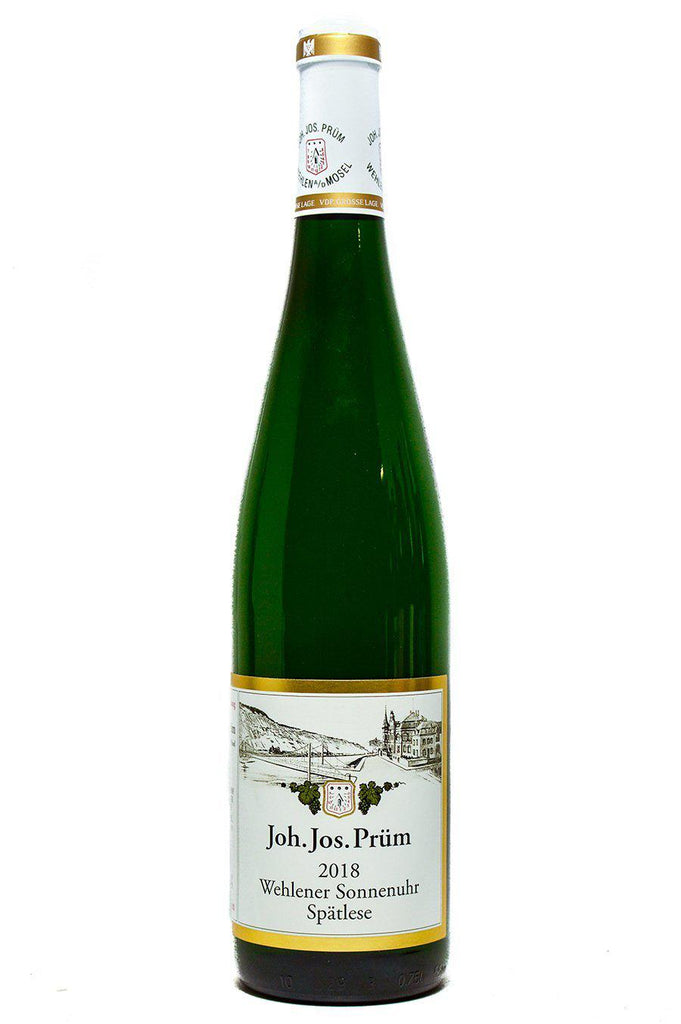 Bottle of JJ Prum, Riesling Spatlese Wehlener Sonnenuhr, 2018 - Flatiron Wines & Spirits - New York