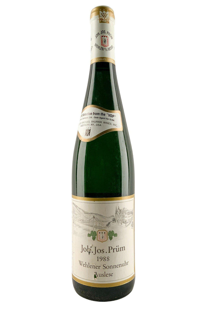 Bottle of JJ Prum, Wehlener Sonnenuhr Riesling Auslese, 1988 - Flatiron Wines & Spirits - New York