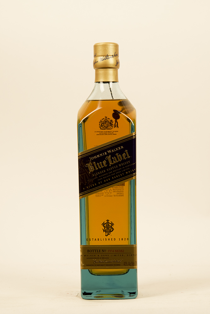 Bottle of Johnnie Walker, Blue Label, Blended Scotch-Flatiron Wines & Spirits - New York