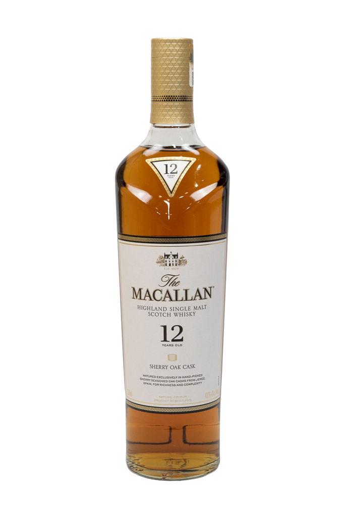Bottle of Macallan, Sherry Oak Single Malt, 12 Year - Flatiron Wines & Spirits - New York