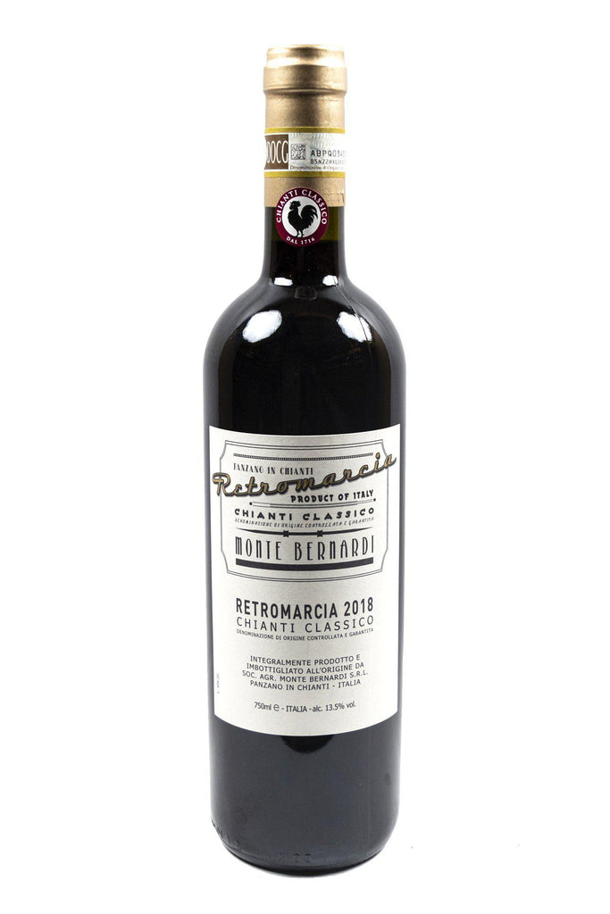 Bottle of Monte Bernardi, Retromarcia Chianti Classico, 2018 - Flatiron Wines & Spirits - New York