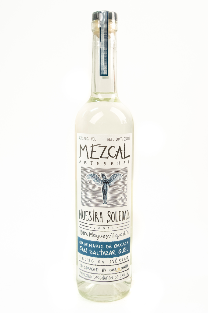 "Bottle of Nuestra Soledad, Mezcal ""San Baltazar Guelavila"" - Flatiron Wines & Spirits - New York"