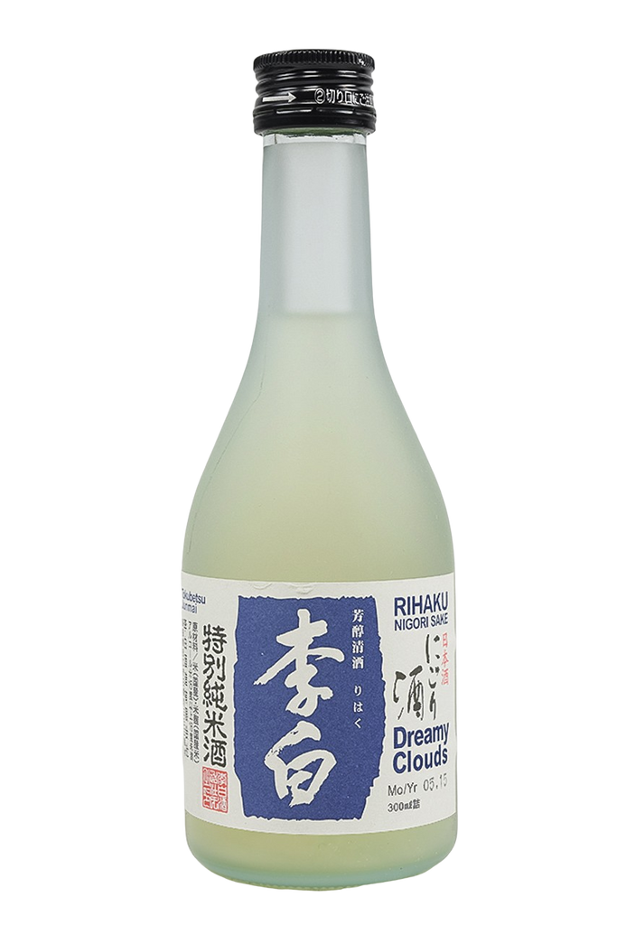 "Bottle of Rihaku, Tokubetsu Junmai Nigori Sake Dreamy Clouds"", NV (300mL) - Flatiron Wines & Spirits - New York"