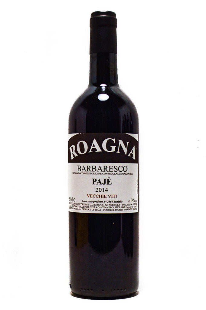 Bottle of Roagna, Barbaresco Paje Vecchie Viti, 2014 - Flatiron Wines & Spirits - New York