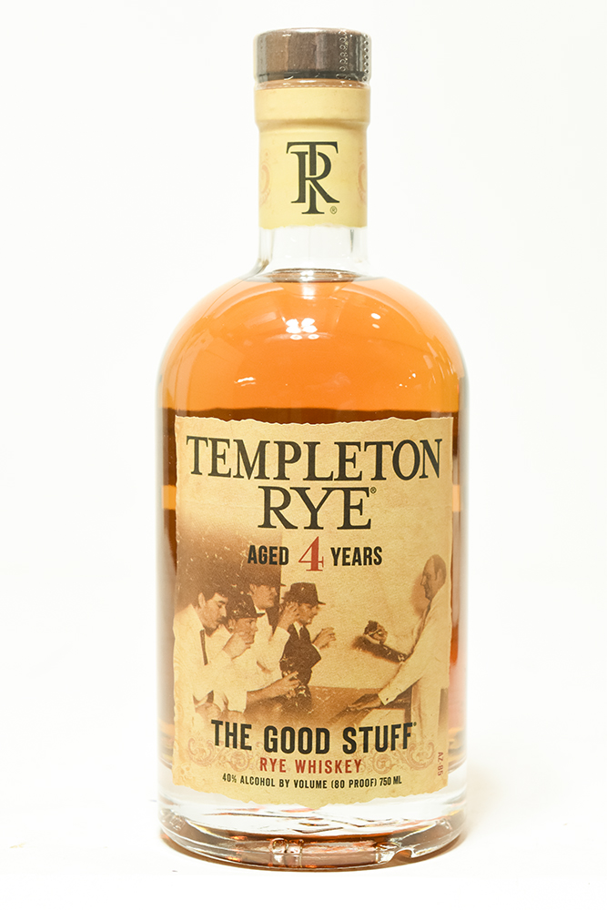 Bottle of Templeton, Small Batch Rye, Aged 4 Years-Flatiron Wines & Spirits - New York