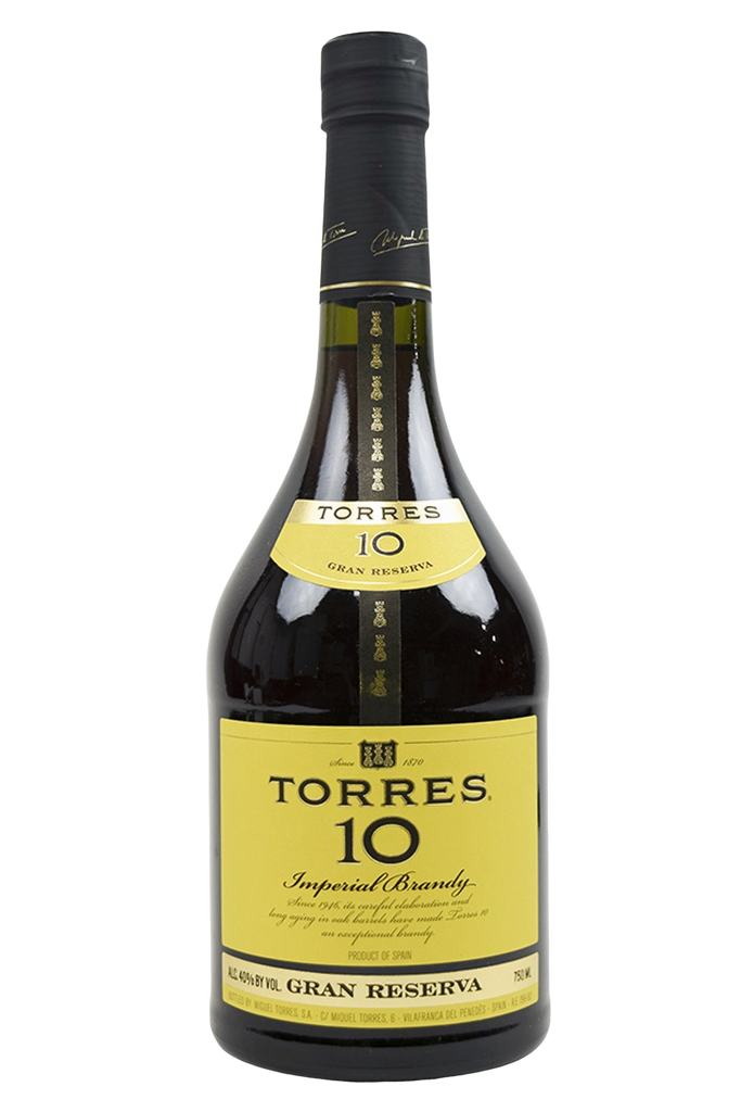 "Bottle of Torres, ""Torres 10"", Imperial Brandy Gran Reserva - Flatiron Wines & Spirits - New York"