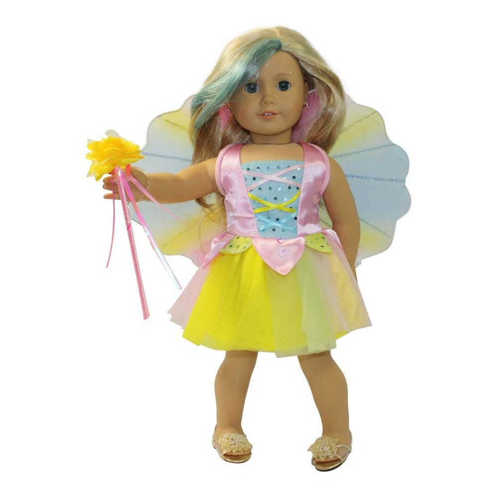 Arianna Fairy Costume Fits 18 Inch American Girl Doll