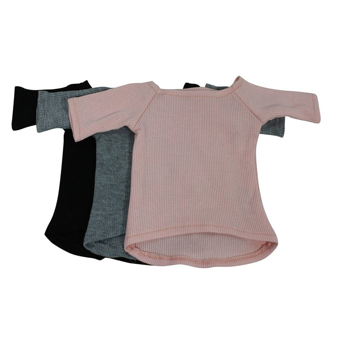 Arianna  Rib Long Sleeve Tops Fits 18 inch Dolls