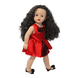 Arianna Red  Kisses Dress and Handbag Fits American Girl 18 inch Doll