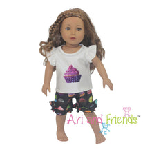 Ari and Friends Cupcake Pajamas Fits Most 18 inch Dolls