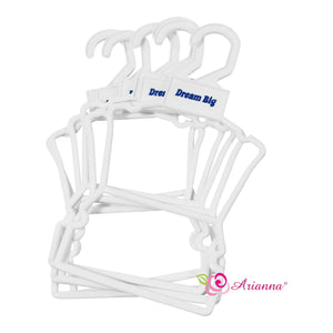 Arianna Dream Big Full Body Clothes Hanger - 1DZ PACK Fits 18 inch Dolls