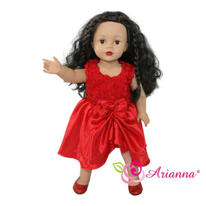 MISS DEVINE RED PARTY DRESS Fits 18 Inch Dolls