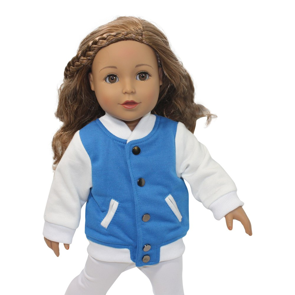 Arianna Half Time Varsity Jacket  Fits American Girl 18 inch Doll
