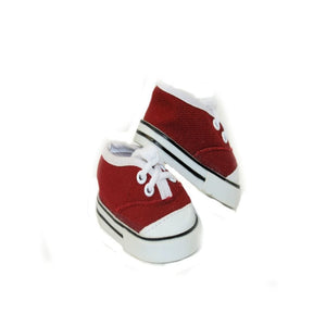 Arianna Red Canvas Sneaker Fits Most 18 inch Dolls
