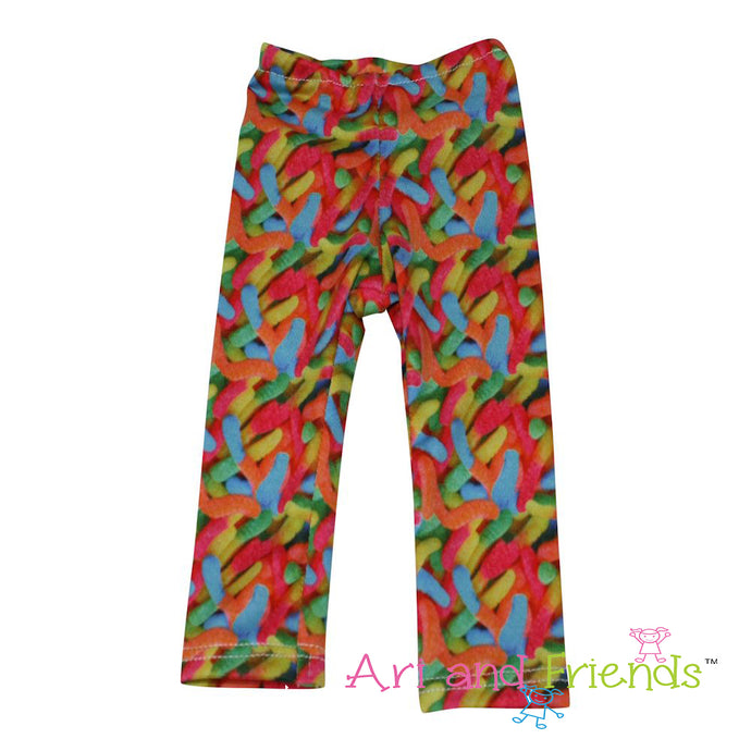 Ari and Friends I Want Candy Leggings Fits 18 inch Dolls