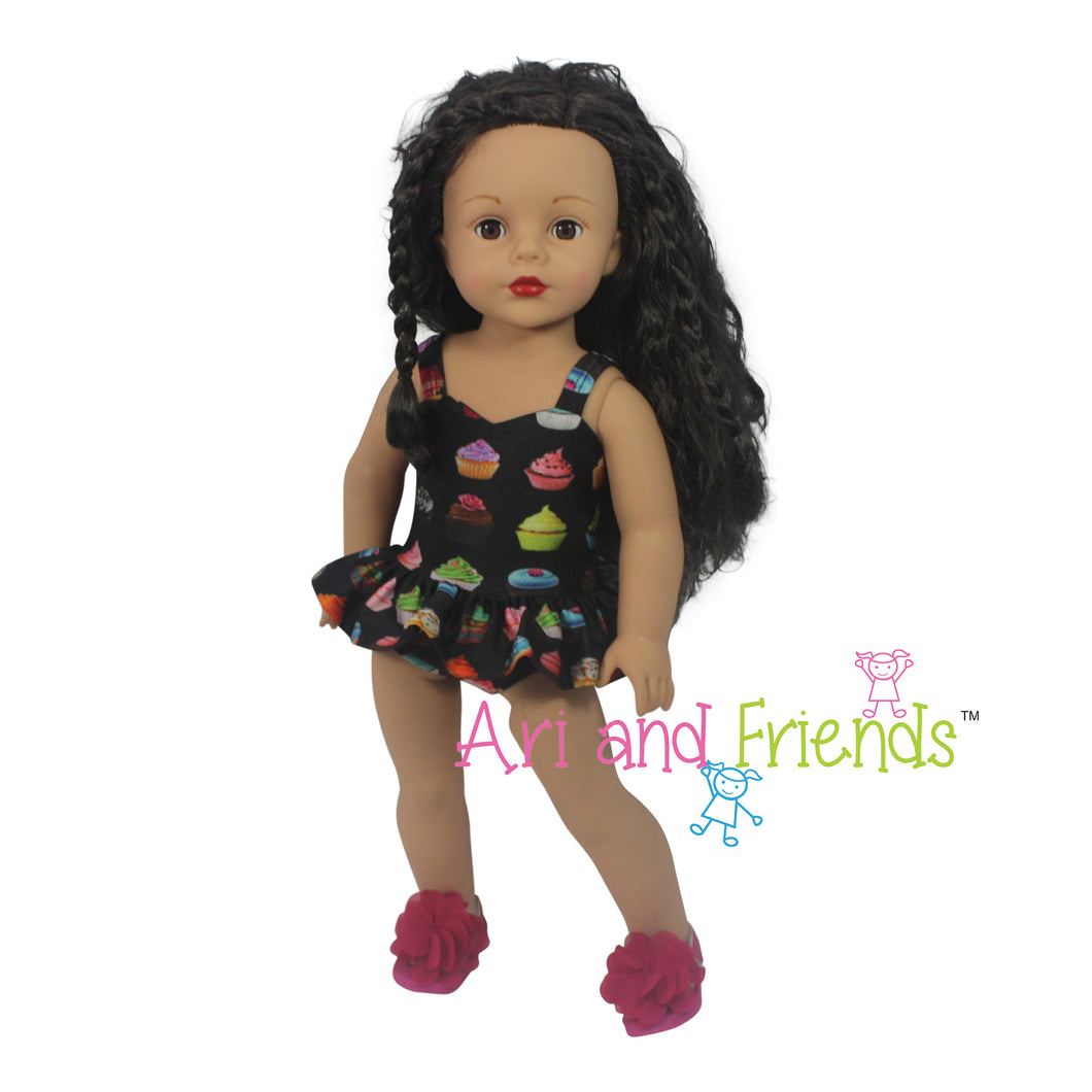 Ari and Friends Cupcake Swimsuit Fits American Girl 18