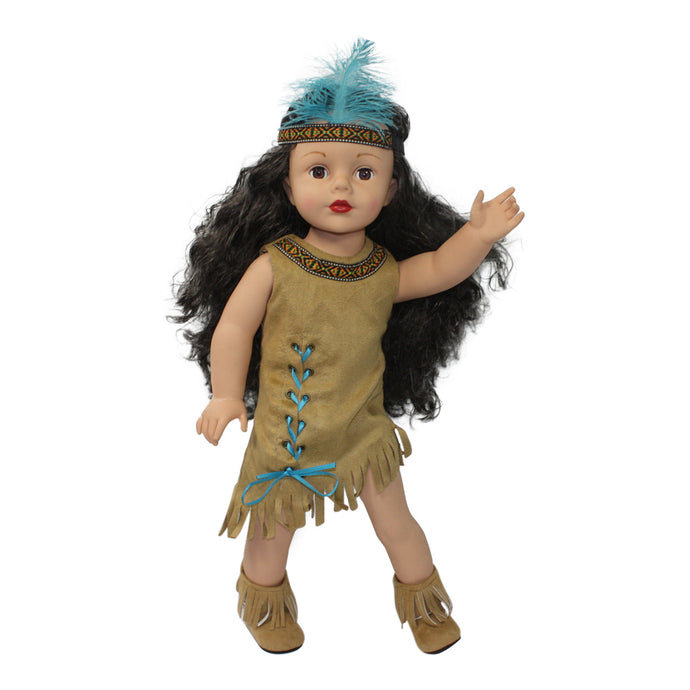 Arianna Native American Indian Dress, Boots, & Headband Fits 18 inch American Dolls