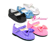 Arianna Polka Dot Mary Jane Shoes  Fits American Girl 18 inch Doll