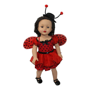 Arianna LadyBug 3pcs Doll Costume Fits 18 inch American Girl Dolls