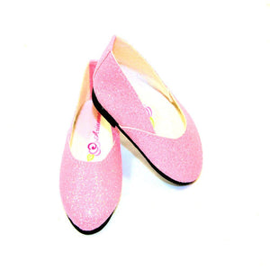 Arianna Princess Glitter Princess Shoes  Fits American Girl 18 inch Doll