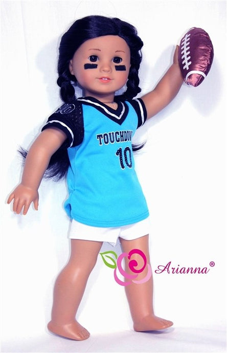 Arianna Touchdown Football  Fits American Girl 18 inch Doll