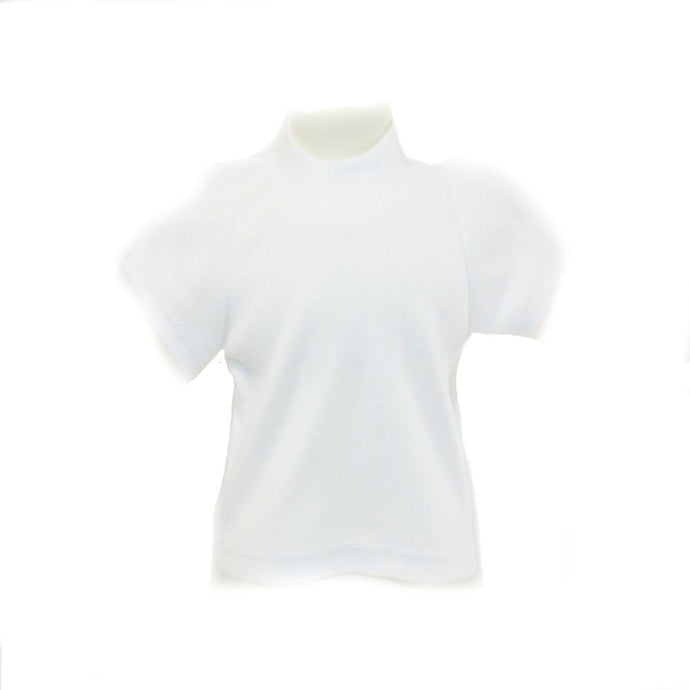 Arianna White Cotton Tee Shirts Fits 18 inch Dolls