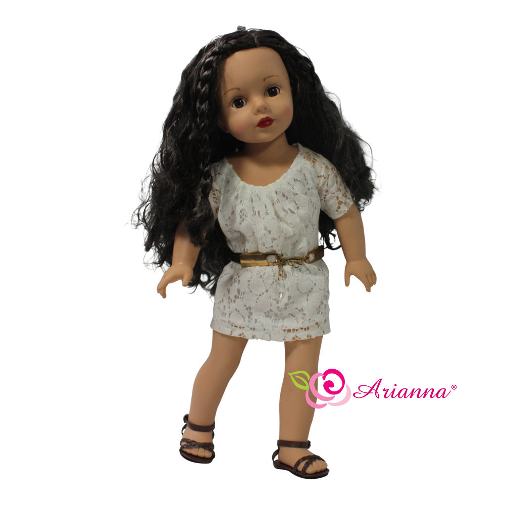 Arianna Indie Dress & Belt Fits 18 Inch Dolls