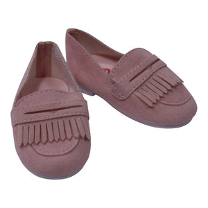 Suede Loafers Shoes Fits American 18 Inch Dolls