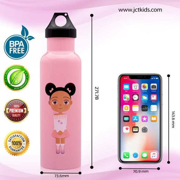 Stainless Steel Metal Water Bottle for Kids