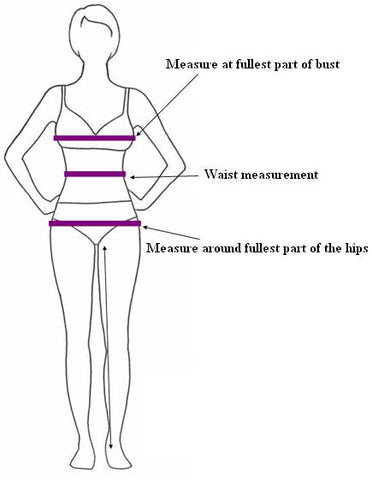 Sassy Boutique Dress Size Guide