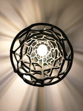 Load image into Gallery viewer, Installation of a 3D printed pendent lamp from sand