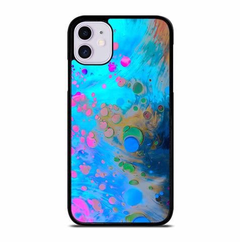 ABSTRACT MARBLING ART PATTERNS AS COLORFUL iPhone 11 Case
