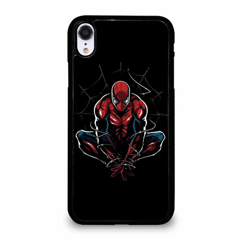 AMAZING SPIDER MAN ON BLACK iPhone XR Case Cover