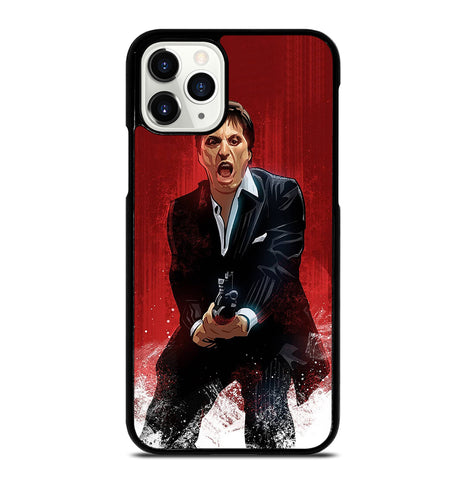 Al Pacino Scarface Drawing for iPhone 11 Pro Case Cover