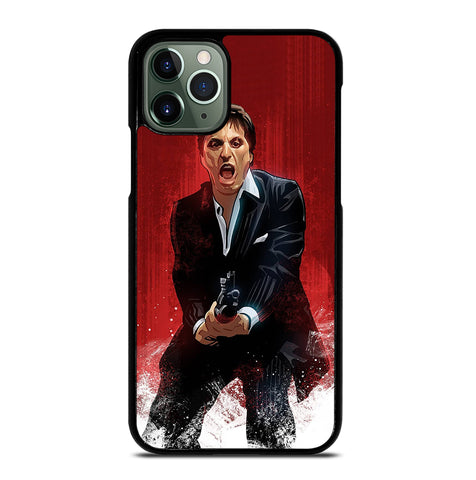 Al Pacino Scarface Drawing for iPhone 11 Pro Max Case Cover