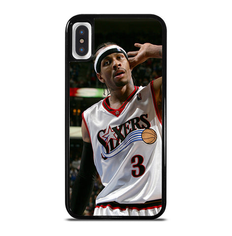 Allen Iverson Sixers NBA for iPhone X and XS Case Cover
