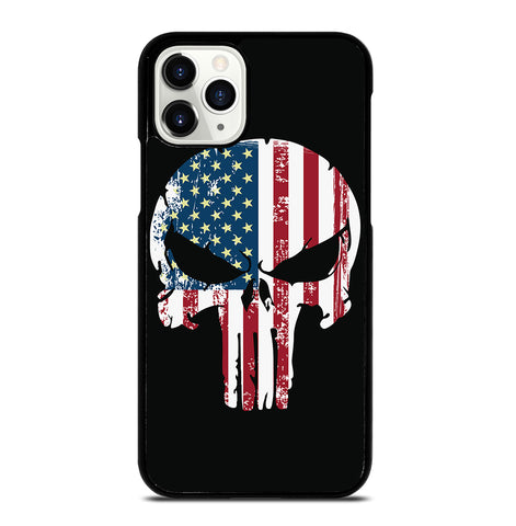 American Flag Punisher Skull for iPhone 11 Pro Case Cover