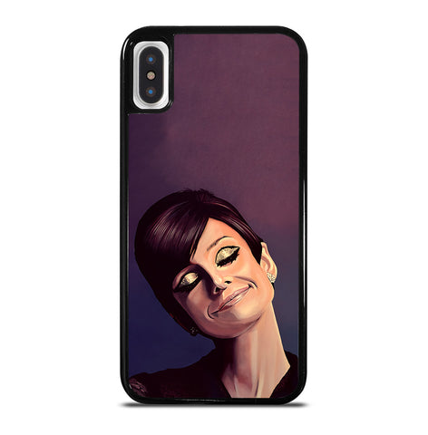 Audrey Hepburn Painting for iPhone X and XS Case