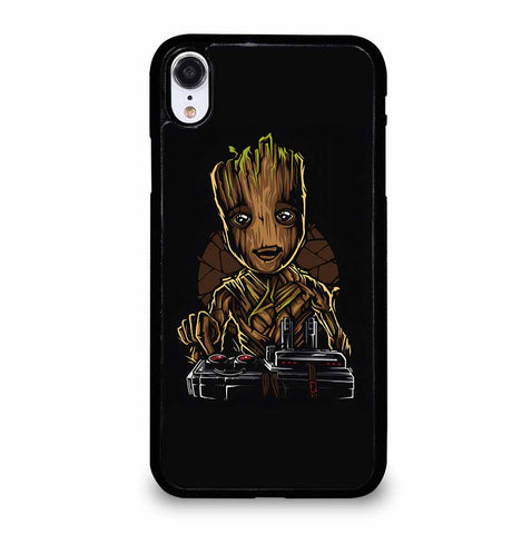 BABY GROOT DEATH BUTTON for iPhone XR Case
