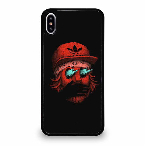 BLACK AND RED ADIDAS Case for iPhone XS Max