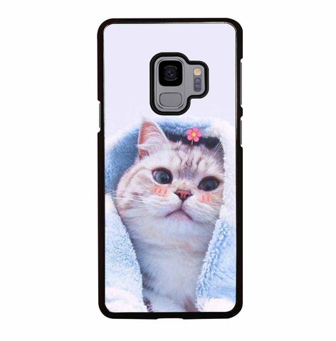 CUTE GIRL CAT for Samsung Galaxy S9 Case Cover