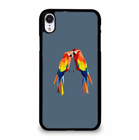 CUTE POLYGONAL PARROTS iPhone XR Case