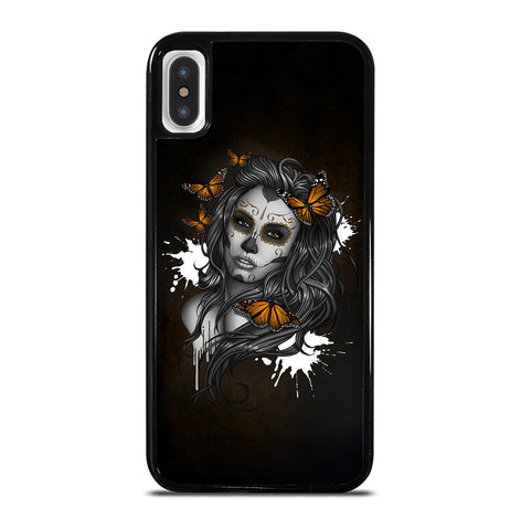 Day of The Dead Sugar Skull Girl Tattoo for iPhone X and XS Case Cover