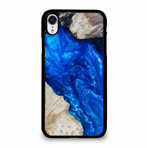 EPOXY CASTING STABILIZING ABSTRACT BLUE WOOD iPhone XR Case