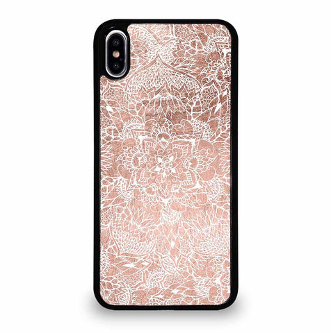 FAUX ROSE GOLD FLORAL MANDALA for iPhone XS Max Case Cover