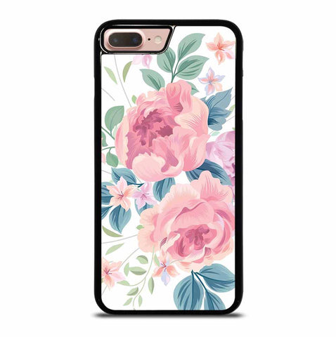 FLOWER ROSE WHITE BACKGROUND PATTERN iPhone 7 / 8 Plus Case