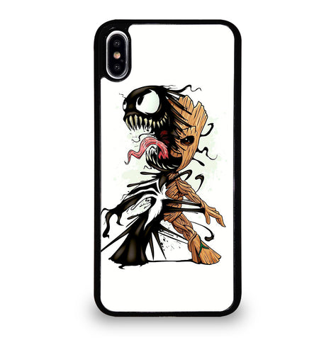 Funny Baby Groot Venom for iPhone XS Max Case Cover