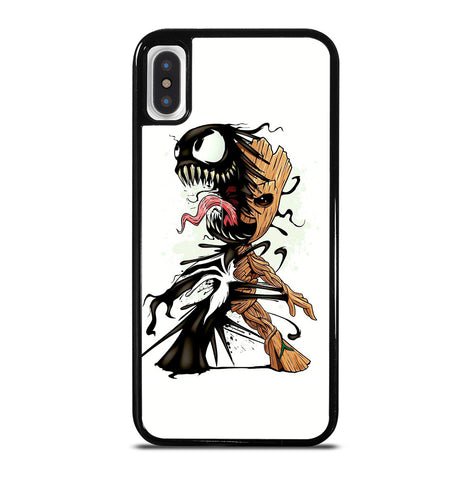 Funny Baby Groot Venom for iPhone X or XS Case