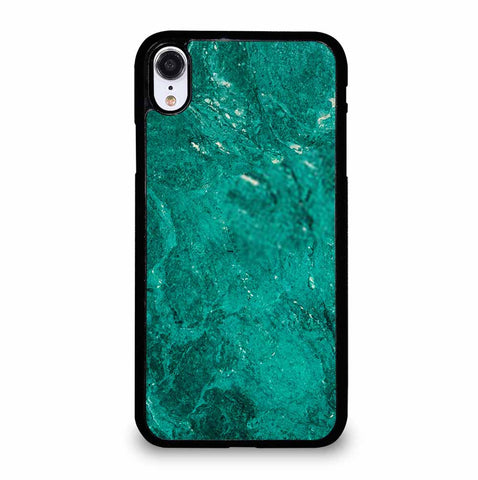 GREEN JADE MARBLE STONE TEXTURE NATURE ABSTRACT iPhone XR Case